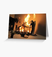 Lego Fire Greeting Card