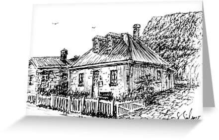 The Captains  Cottage  Stanley  by  Ian (Ruckrova) Shiel by Ruckrova