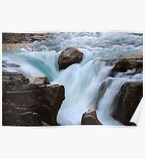 Sunwapta Falls Jasper Alberta Poster