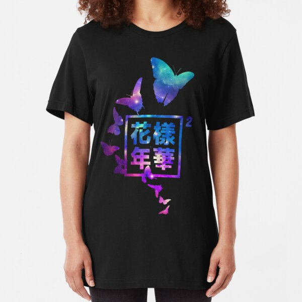 """""""THE MOST BEAUTIFUL MOMENT IN LIFE"""" BUTTERFLY GALAXY LOGO Slim Fit T-Shirt"""