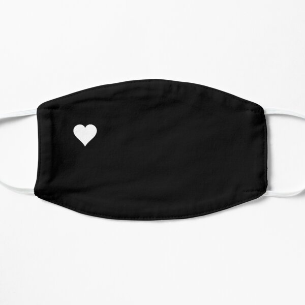 Mask with small white heart - black color Mask