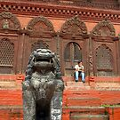 Large Stone Fu in Durbar Square by SerenaB