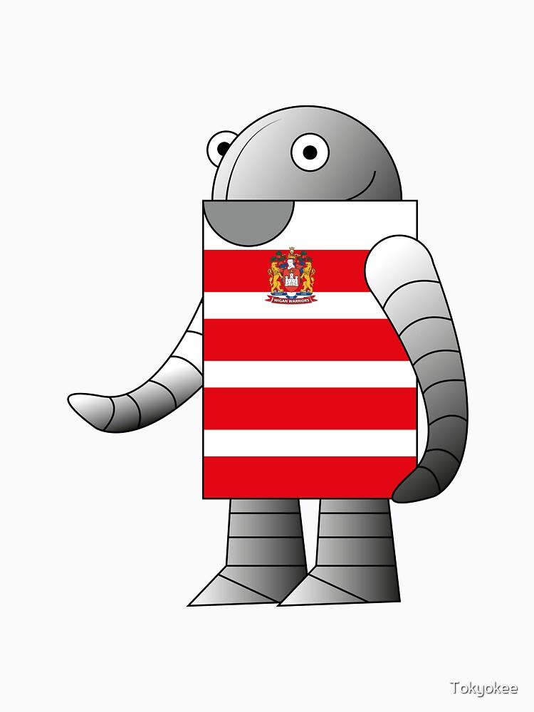 Wigan Warriors T-Shirt Robot by Tokyokee
