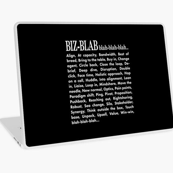 Biz-Blab. Blah-Blah-Blah. Laptop Skin