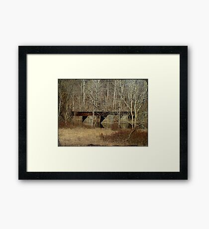 Derelict Railroad Bridge - Green Lane Reservoir - Pennsylvania Framed Print