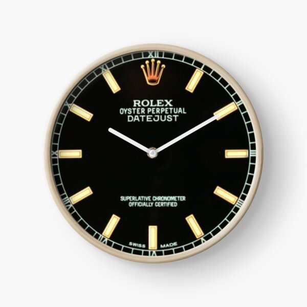 Black Index Oyster Perpetual Dial Clock