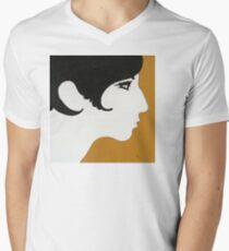 Barbra Streisand T-Shirt mit V-Ausschnitt für Männer