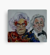 Dame Edna with Sir Les Patterson Canvas Print