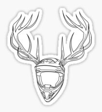 Mx Stag Head Sticker
