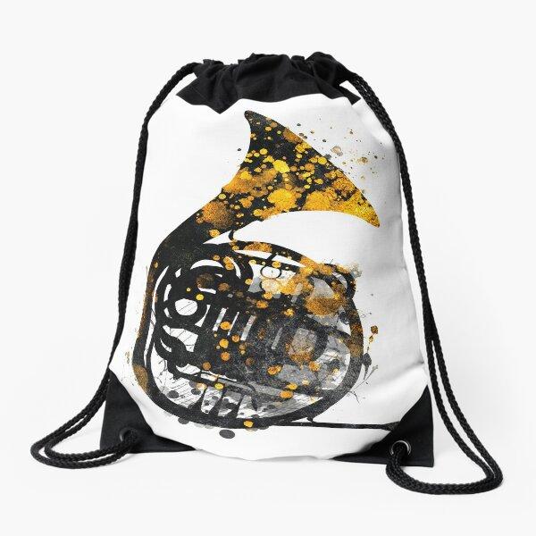french horn music art #music Drawstring Bag