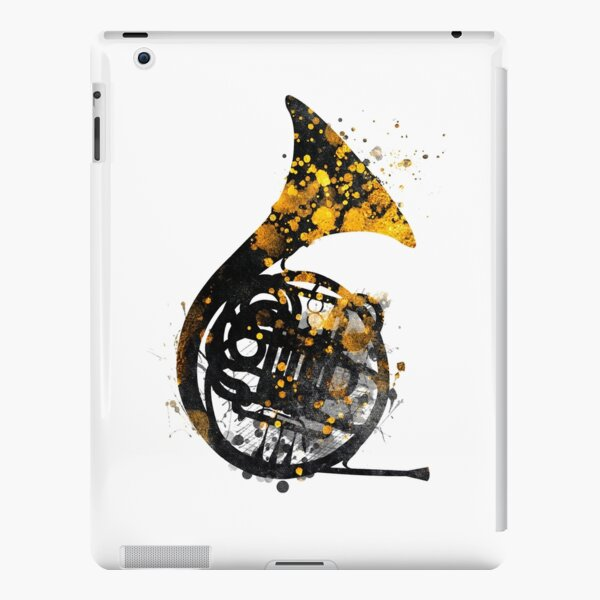 french horn music art #music iPad Snap Case