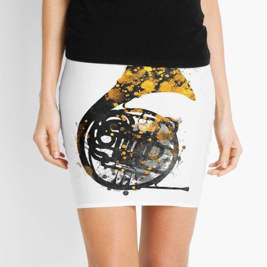 french horn music art #music Mini Skirt