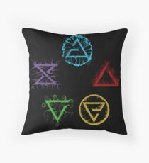 Witcher Signs Throw Pillow