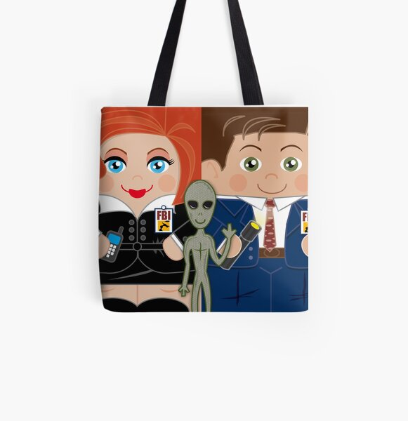 Alien Investigators All Over Print Tote Bag