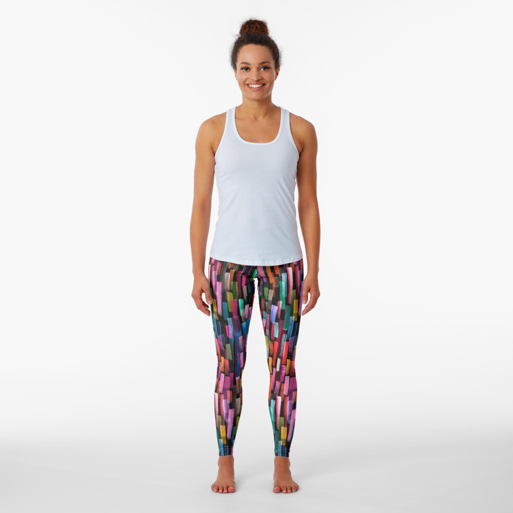 Multicolored watercolor stripes pattern Leggings