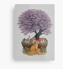 Bonsai Village Metal Print