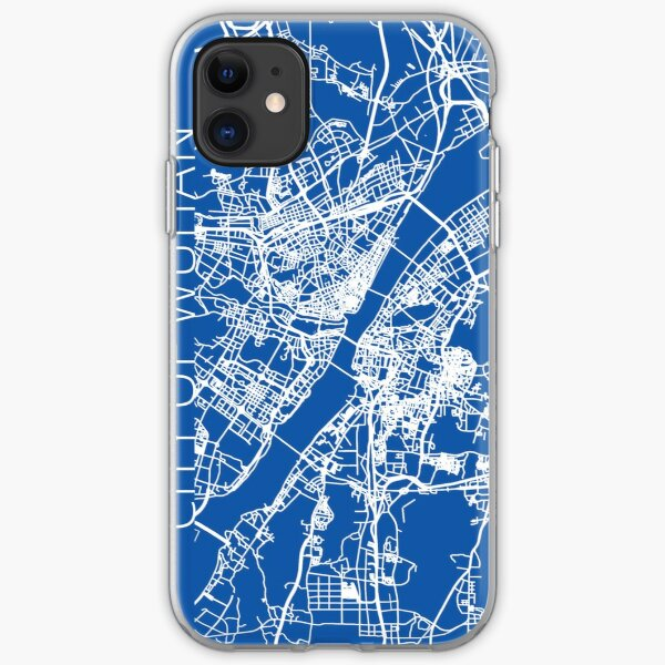 Karte der Stadt Wuhan iPhone Flexible Hülle