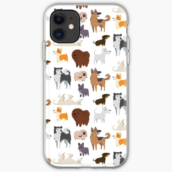 Dog Breeds Pattern iPhone Soft Case