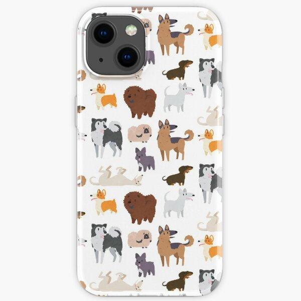Dog Breeds Pattern iPhone Soft Case