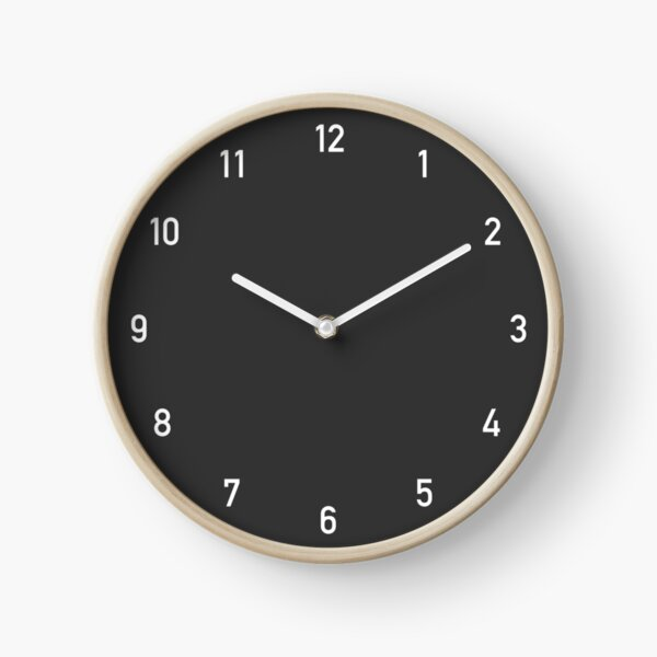 Clock numbers charcoal Clock