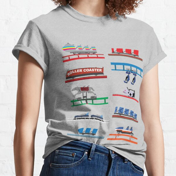 Blackpool Pleasure Beach Retro Coaster Cars Classic T-Shirt