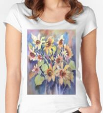 Sonnentanz Tailliertes Rundhals-Shirt