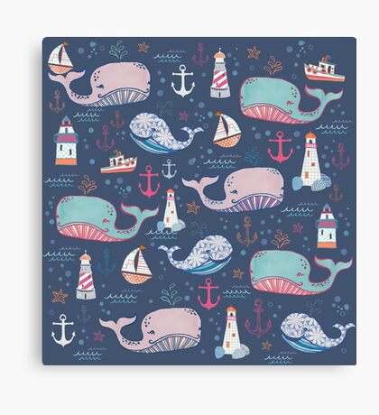 Whale Toss Canvas Print