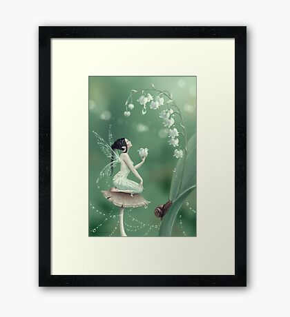 Lily of the Valley Flower Fairy Framed Print