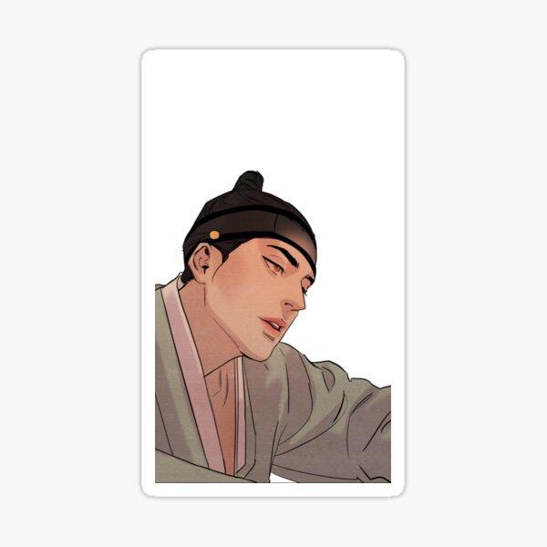pintor de la noche seungho (con fondo) Pegatina