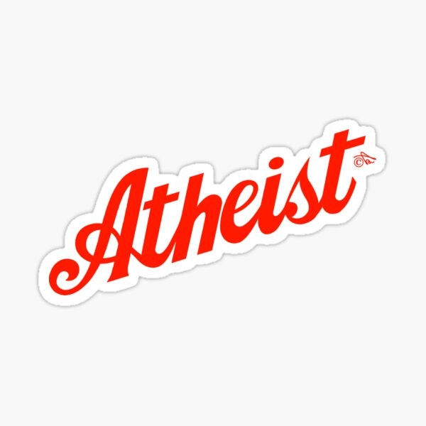 Classic Atheist Script by Tai's Tees Sticker