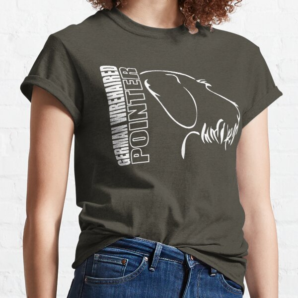 GERMAN WIREHAIR POINTER - outline profile Classic T-Shirt