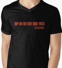Perfect (Orange) Men's V-Neck T-Shirt