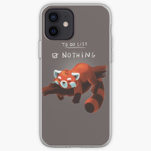 Red Panda Day - to Do List Nothing - Cute Fluffy Animal - Procrastinate iPhone Soft Case