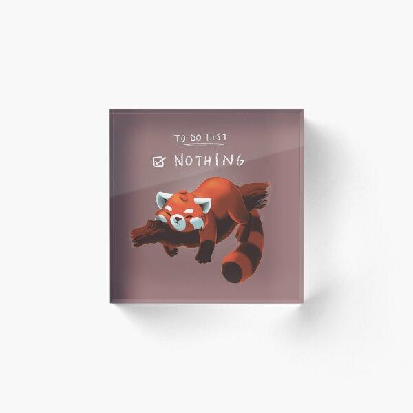 Red panda day Acrylic Block