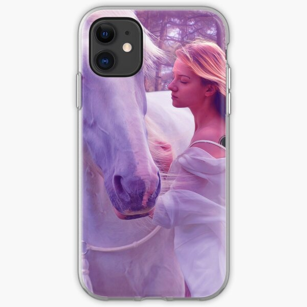Mystical Girl with Horse iPhone Soft Case