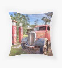 3D Garage Throw Pillow