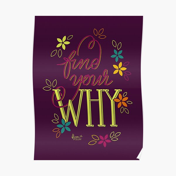 Find Your Why purple Poster