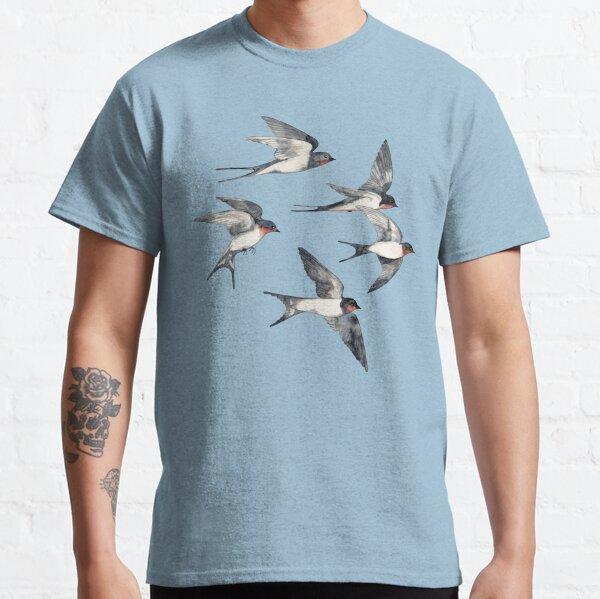 Blue Sky Swallow Flight Classic T-Shirt