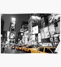 New York square black&white Poster