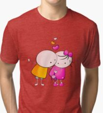 Cute Couple Tri-blend T-Shirt