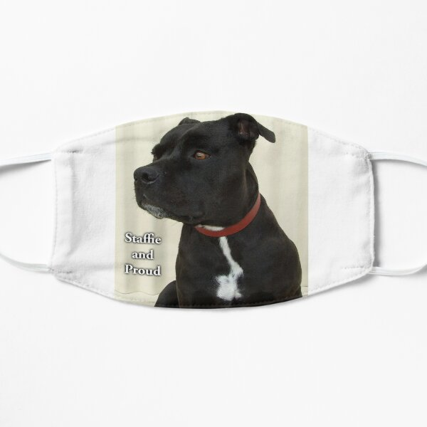 Staffie and Proud Flat Mask