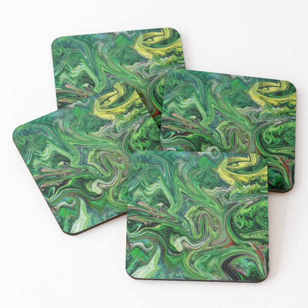 Abstract in the Garden Coasters (Set of 4)