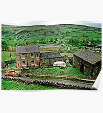 Pennine Landscape, N. England, UK., 1980s. Poster