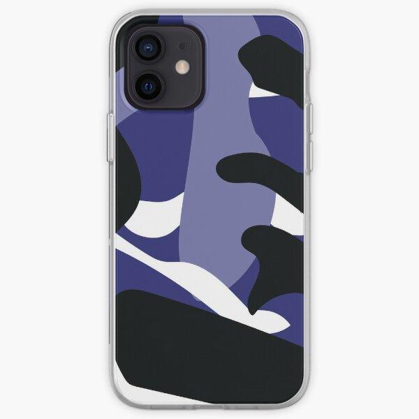 Blue Camo Print iPhone Soft Case