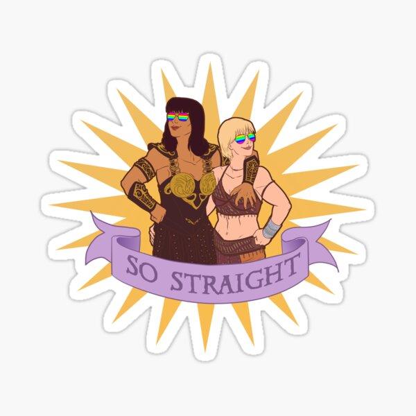 Xena and Gabrielle are totes platonic Sticker