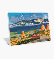 Vintage travel camper country landscape poster Laptop Skin