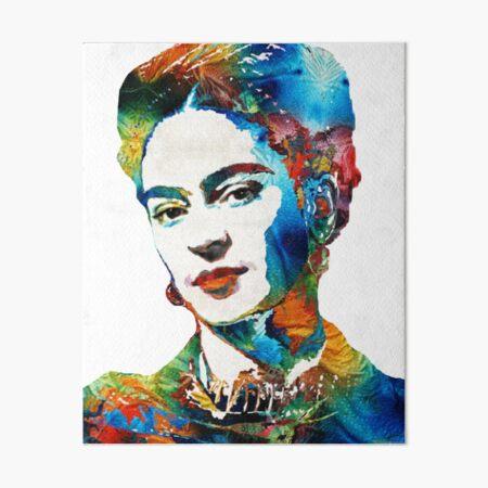 Portrait abstrait de Frida Kahlo Impression rigide