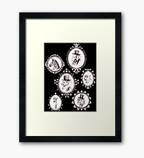 Animaux Cameo Framed Print
