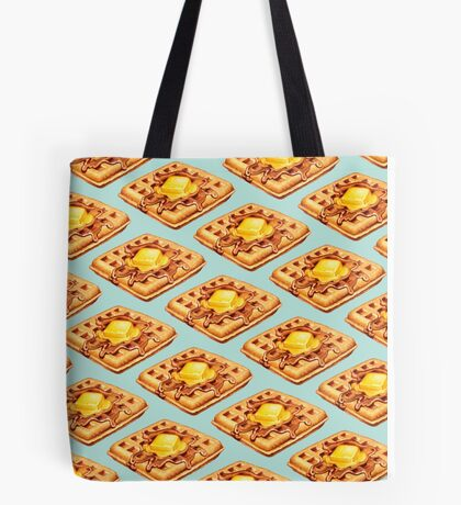 Waffle Pattern Tote Bag