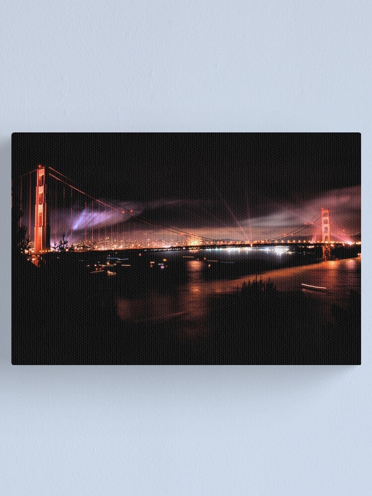 Alternate view of Fireworks - 75th Anniversary of the Golden Gate Bridge Canvas Print